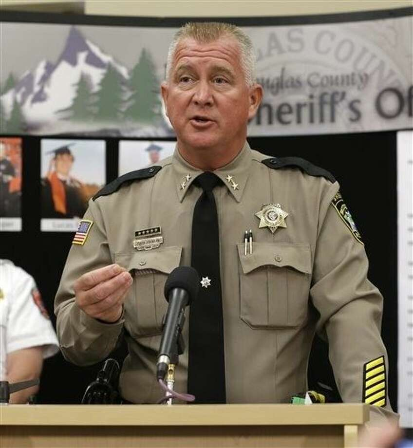 Douglas County Sheriff John Hanlin speaks during a news conference, Saturday in Roseburg, Ore. Hanlin said that Christopher Harper-Mercer, the gunman that killed nine at Umpqua Community College, died from a self-inflicted wound. Photo: Rich Pedroncelli
