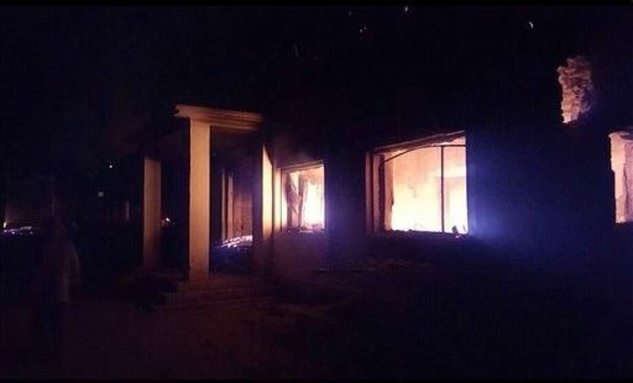 The Doctors Without Borders trauma center is seen in flames, after explosions near their hospital in the northern Afghan city of Kunduz. Photo: Uncredited