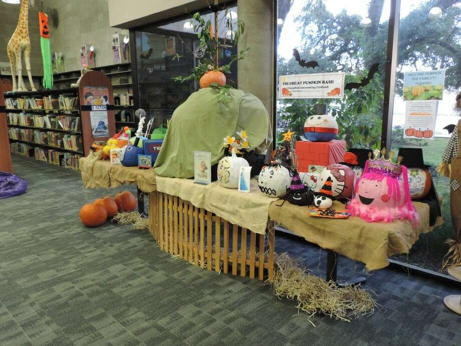 Liberty Municipal Library is preparing for the upcoming Great Pumpkin Bash on Oct. 29. The public is invited to decorate a pumpkin and drop it off at the library on Oct. 26. The best entries will be recognized with the top winner earning a prize. Photo: Submitted
