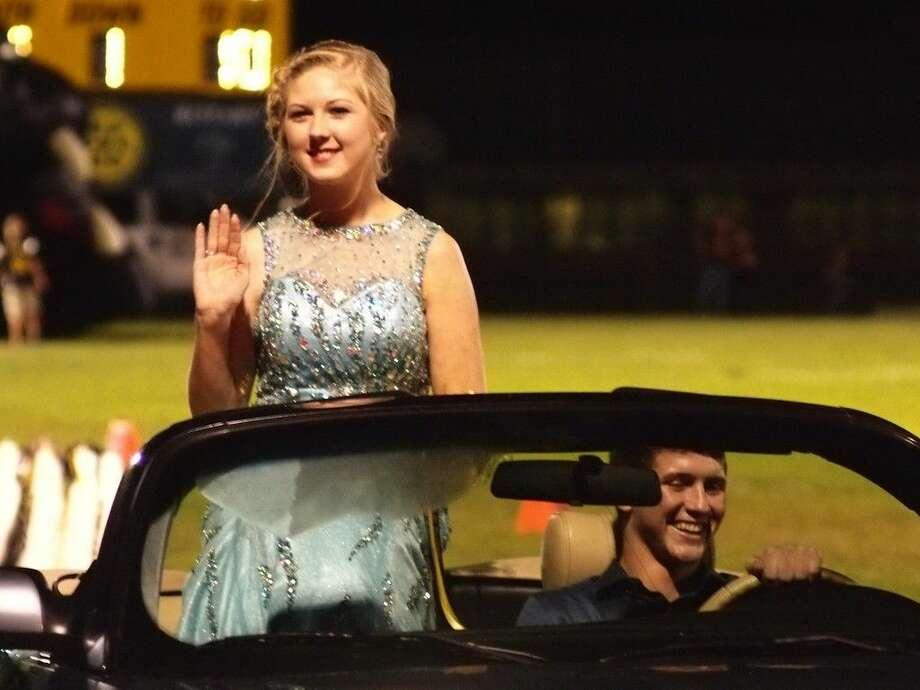 Hanna Hinch was a senior class duchess during Liberty High School's 2015 homecoming. Photo: Casey Stinnett