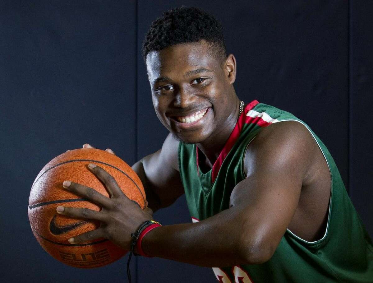 The Woodlands point guard Romello Wilbert poses for a portrait.