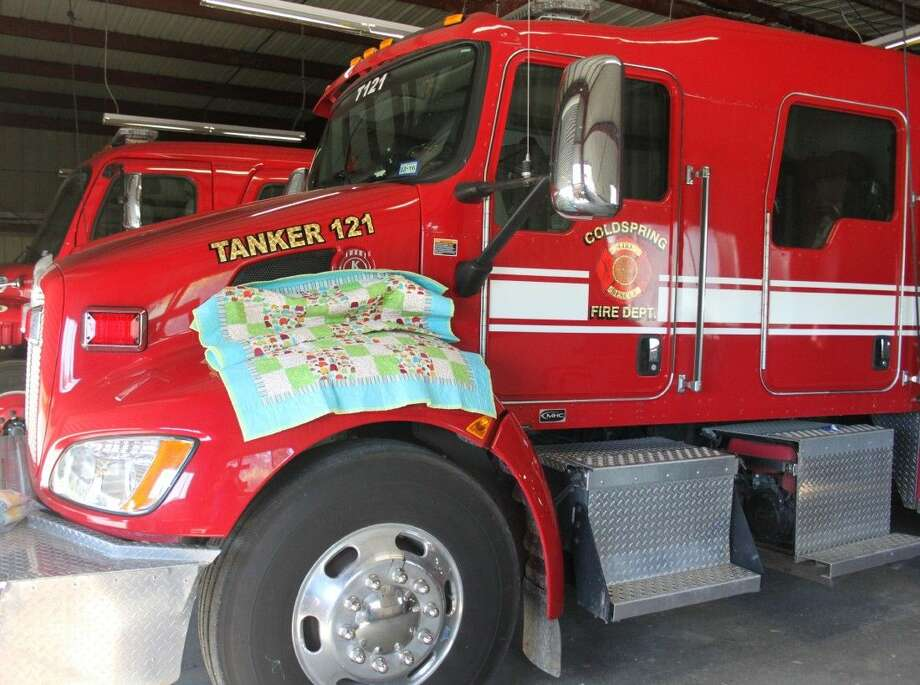 San Jacinto County ESD has 20 quilts divided between the different fire chiefs and other emergency organizations to give to children in need of comfort. Photo: Jacob McAdams