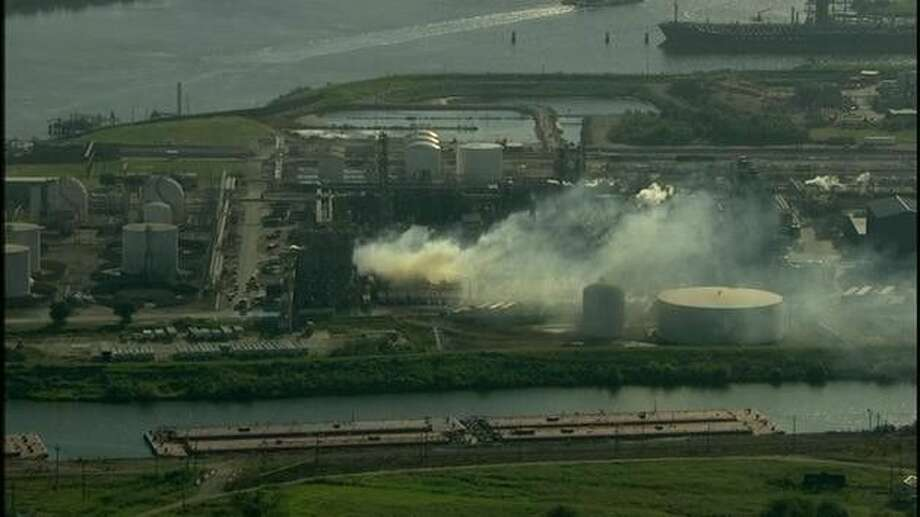 Four were injured in an explosion and fire at the SunEdison facility in Pasadena Friday morning.