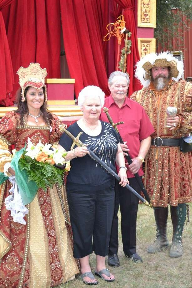 Ray Weed, president of the Society of Samaritans, and Mildred Ashworth, Executive Director of SOS, were honored at the Sept. 26 Stroll thru the Renaissance with a knighting ceremony. Annually this event, co-sponsored by the Texas Renaissance Festival and the city of Magnolia, recognizes local volunteers who have given outstanding service to the Magnolia community. Photo: Submitted