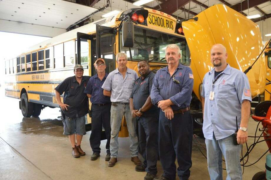 The Deer Park ISD Transportation Department was recently awarded the 2015 Clean Air Champion Award from the Houston-Galveston Area Council. Pictured are District mechanics Scott Kinder, Floyd Barnes, Levi Folk, Reggie Smith, Pat White, and supervisor Jay Archer.