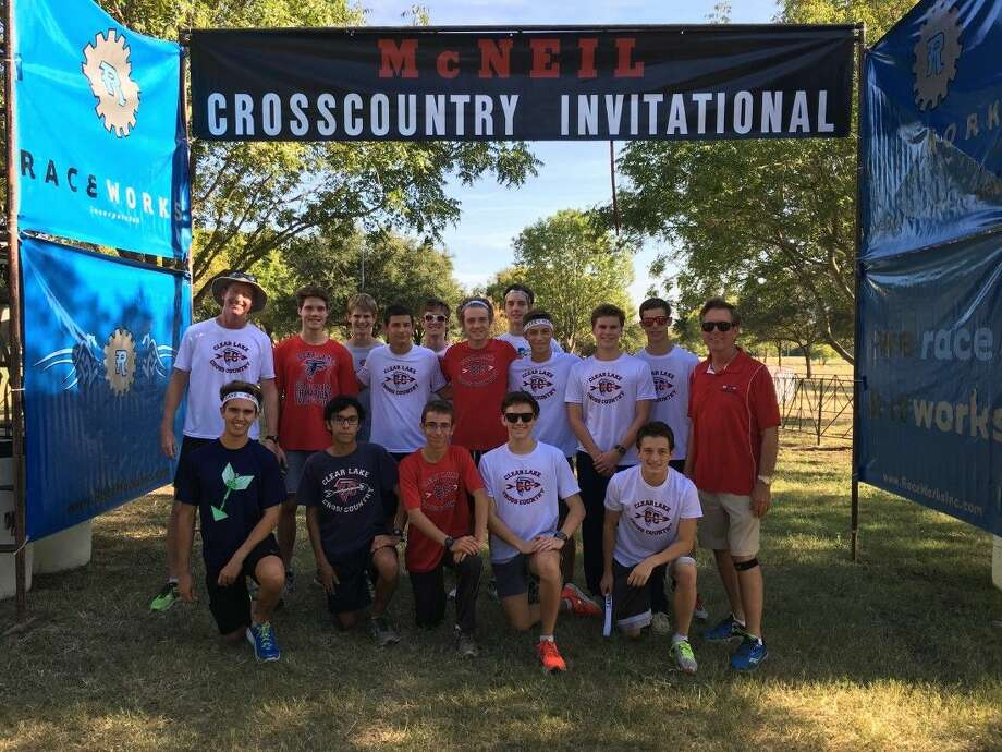 The Clear Lake High School boys varsity cross country team placed10th in the Elite Varsity Gold Division at the State Preview Meet at Round Rock. More than 250 teams from from the state competed at the meet. Photo: SUBMITTED PHOTO