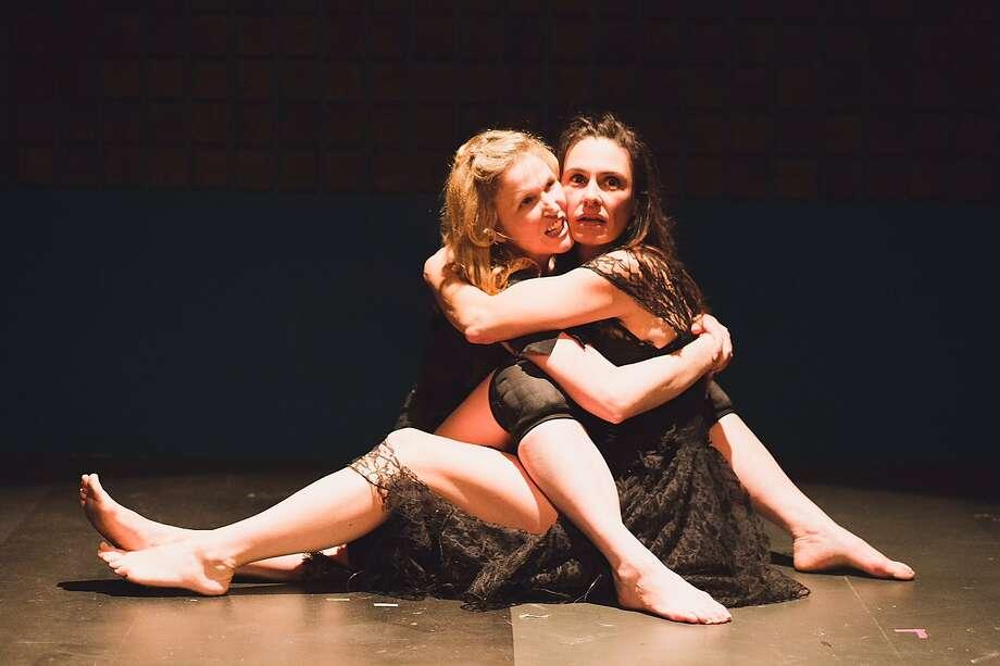 "Melanie DuPuy, Danielle O'Hare in ""Avant Gardarama!"" Photo: Norman Fung, Cutting Ball Theater"