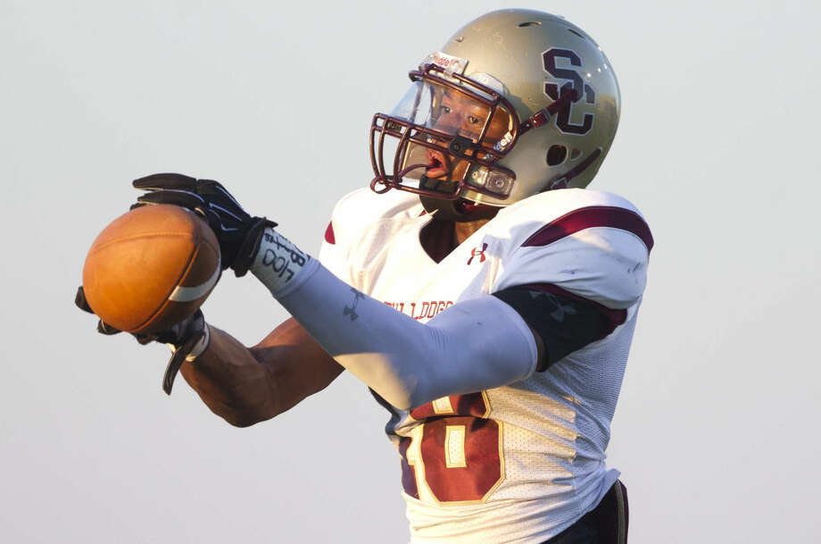 Summer Creek's Christopher Williams catches a pass during the first half of a high school football game at Woodforest Bank Stadium Saturday. To view or purchase this photo and others like it, visit HCNpics.com. Photo: Jason Fochtman