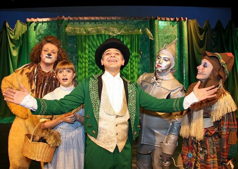 """Take a journey down the yellow brick road with Pearland High School's play """"The Wizard of Oz."""" Shows will be Oct. 8 and 10 at 7:30 p.m. and Oct. 10 and 11 at 2:30 p.m. in the campus auditorium (3775 S. Main).Tickets are 12 for adults and 10 for students, faculty and senior citizens: https://www.ticketracker.com/store/events/163. Pictured are (from left) Anthony Williams as the Cowardly Lion, Angelica Stross as Dorothy, Adrian Lopez as the Wizard, Ryan Hashem as the Tin Man and Katelyn Adams as the Scarecrow."""