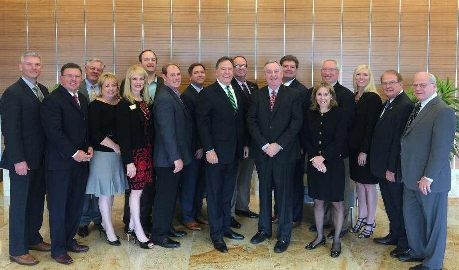 Members of the 2015-2016 The Woodlands Area Erconomic Development Partnership Board of Directors.