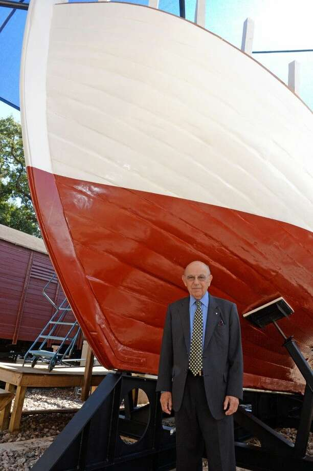 Ole Philipson tells his story of survival at Rescue Boat Re-Dedication at Holocaust Museum Houston on Sunday, Oct. 4. Photo: Craig Moseley