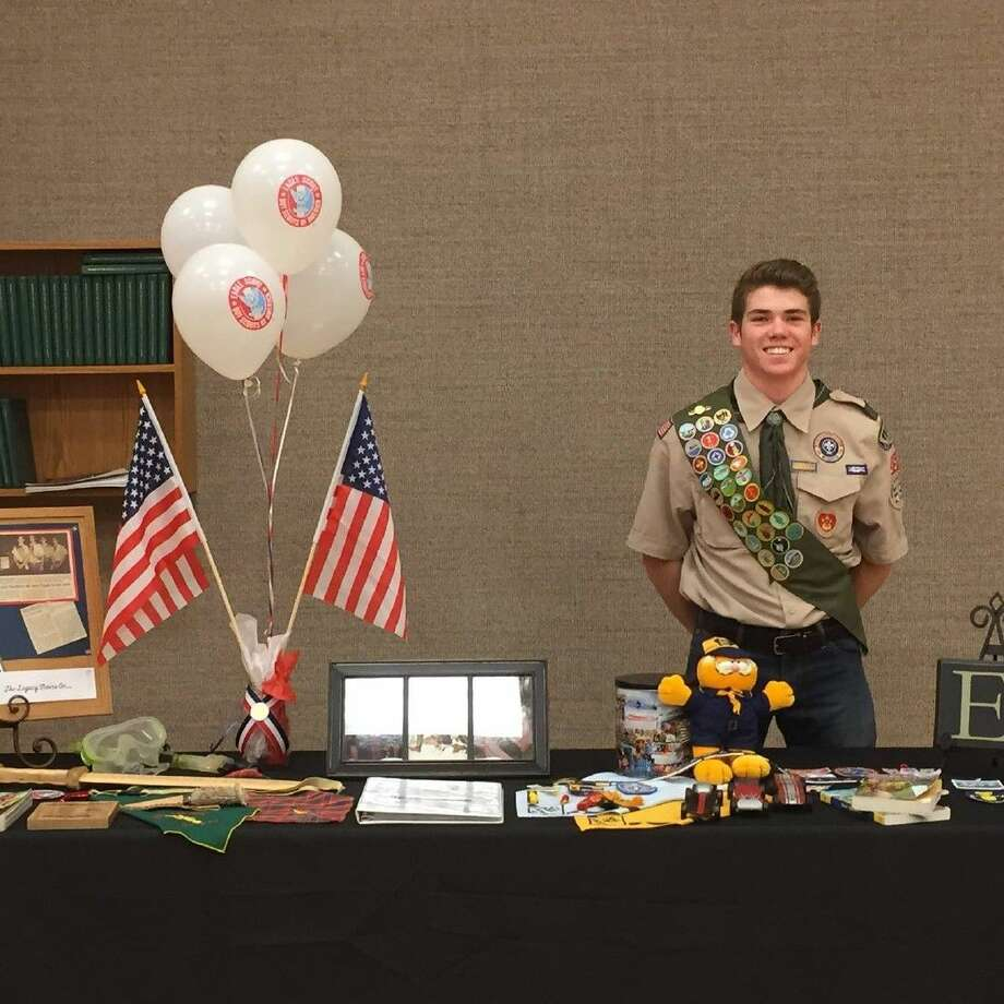 Ethan Spendlove is a senior at Ridge Point High School. His Eagle Scout project was to build a shade canopy using donated and recycled materials