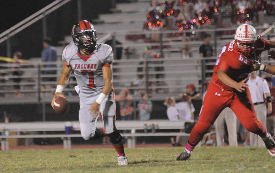 Huffman's Cody Gaitan and the Falcons will host Jasper in a battle for first place in District 10-4A Division I. Photo: Keith MacPherson