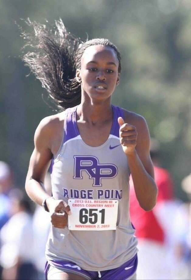 Taylor Price and Ridge Point won the District 23-5A girls cross country championship, with Price winning the individual title. Photo: Jason Fochtman