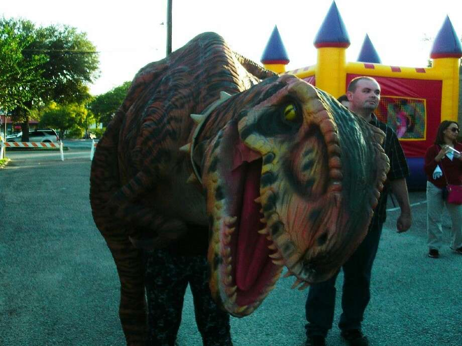 This dinosaur could be seen roaming around Humble's National Night Out event on Tuesday, Oct. 6.