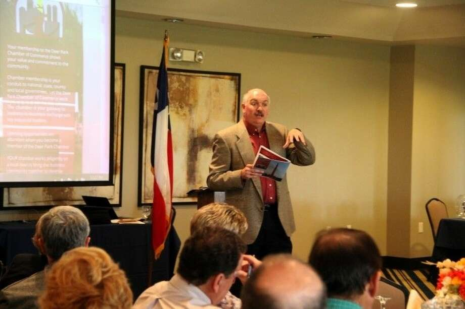 Tim Culp, CEO and President of the Deer Park Chamber of Commerce served as featured speaker at the Member Management Luncheon Tuesday (Oct. 23). Photo: Kristi Nix