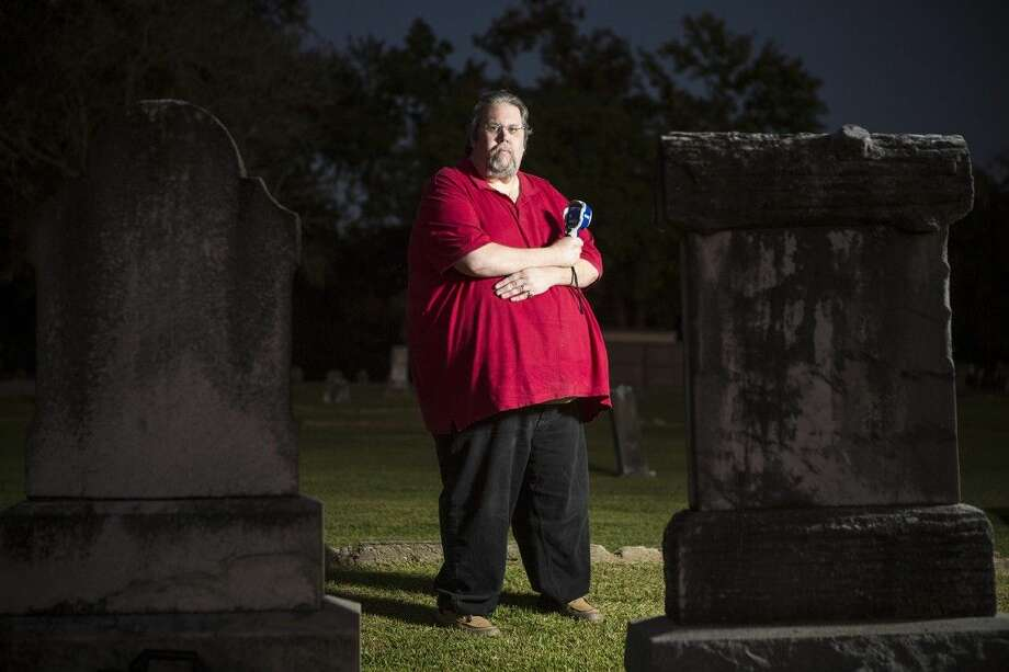 Lone Star Spirits president Pete Haviland poses for a portrait Oct. 24, 2014, at the Humble Cemetery. Photo: ANDREW BUCKLEY