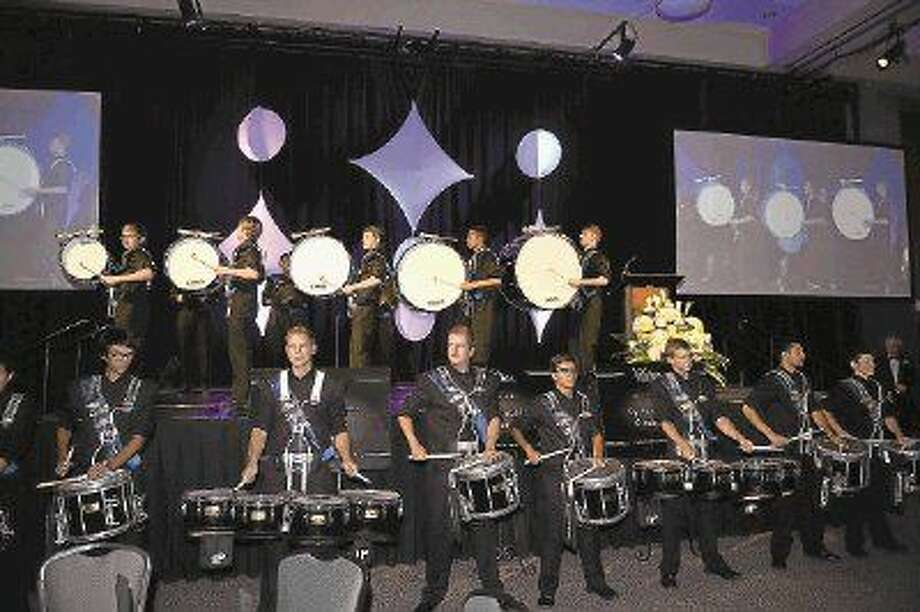 The Cypress Ranch High School drum line performs for the guests at the 17th annual Salute to the Stars Gala. Photo: Submitted Photo