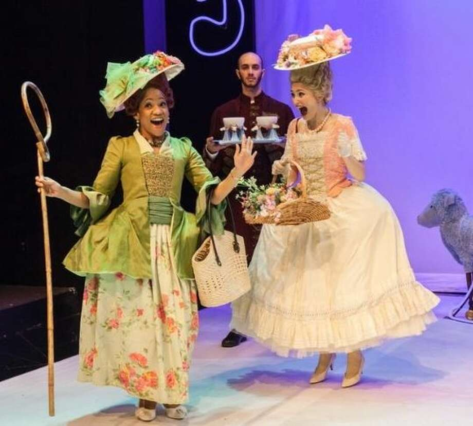 Robin LeMon, Craig Putman, and Emily Neves in Marie Antoinette - Photo by Amitava Sarkar