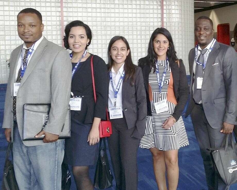 San Jacinto College students who attended the Breakbulk Americas conference include, from left: Jimmie Steele, Xitlallic Andrade, Christina Espinosa, Rosa Castilla, and Alexis Odounton. Submitted photo.