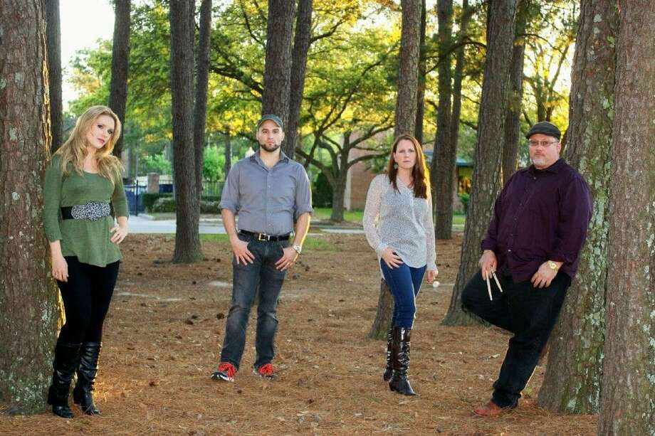 The band Bless the Morning is (left to right) Michelle Gabaldon (violin and vocals), Matt Gabaldon (lead guitar and vocals), Angela Lightfoot (bass guitar and vocals), and Steven Lightfoot (drums).