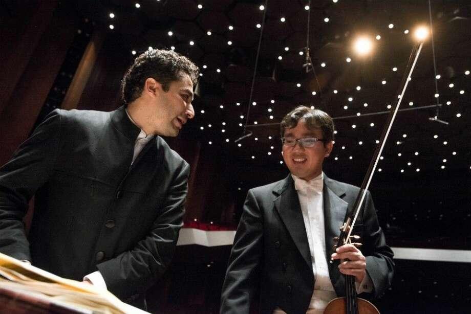 Andrés Orozco-Estrada with Frank Huang.