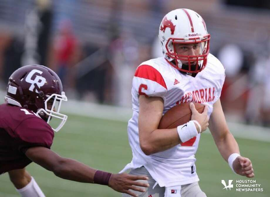 Colton Taylor looks for daylight versus Cinco Ranch earlier this season.