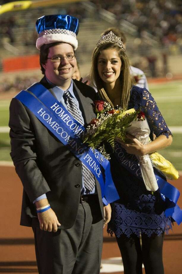Noah Stroud and Sofia Malvaez are crowned homecoming king and queen during half-time of Kingwood's 28-7 victory over Summer Creek on Oct. 2, 2015, at Turner Stadium. Photo: Andrew Buckley