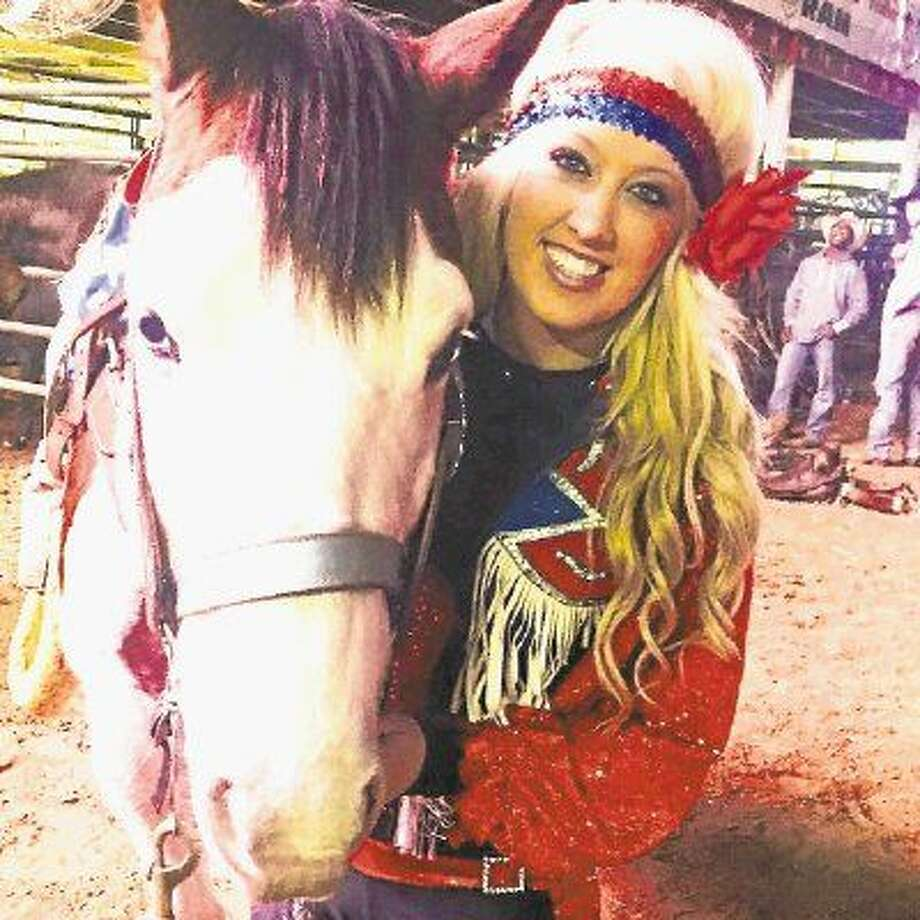 Sadie Lynn is a performer with the All American Cowgirl Chicks, a equestrian drill team that performs gymnastics on horseback. The Chicks use their performances to educate the public on breast cancer awareness.