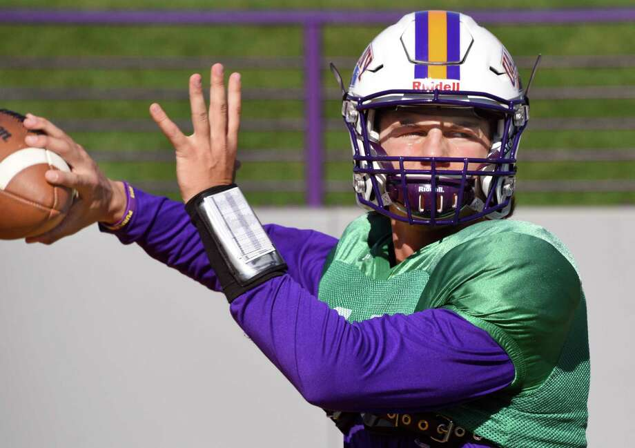 QB Neven Sussman during UAlbany's practice Wednesday Oct. 5, 2016 in Albany, NY.  (John Carl D'Annibale / Times Union) Photo: John Carl D'Annibale / 40038268A