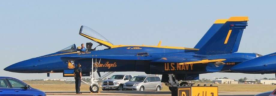 "The ""top"" Blue Angel pilot flies in Plane One."