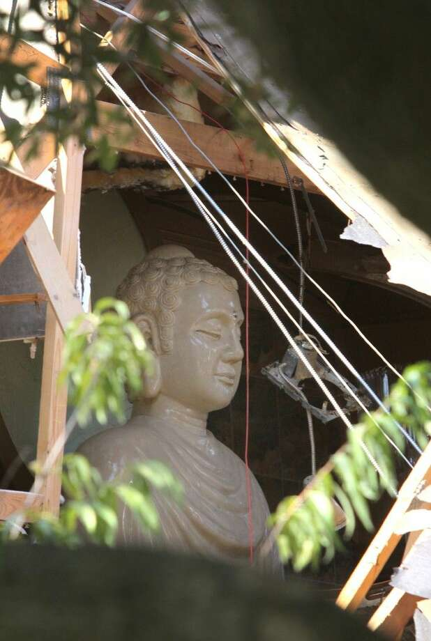Roof Of Vietnamese Buddhist Temple Collapses In Sugar Land