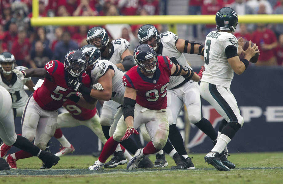 during the second half of an NFL football game at NRG Stadium Sunday, Nov. 2, 2014, in Houston. The Philadelphia Eagles defeated the Houston Texans 31-21. Photo: Jason Fochtman