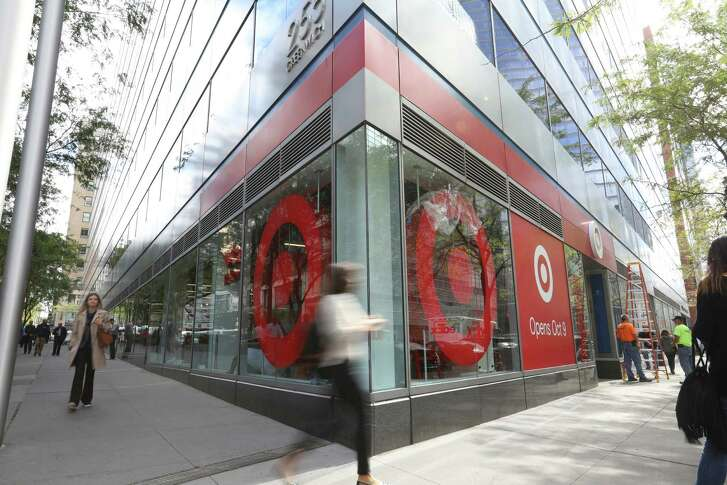 The new Target store in Manhattan's Tribeca area is one-third the size of its regular stores. It's part of a strategy to open dozens of small U.S. stores that are customized for college towns and dense urban markets.