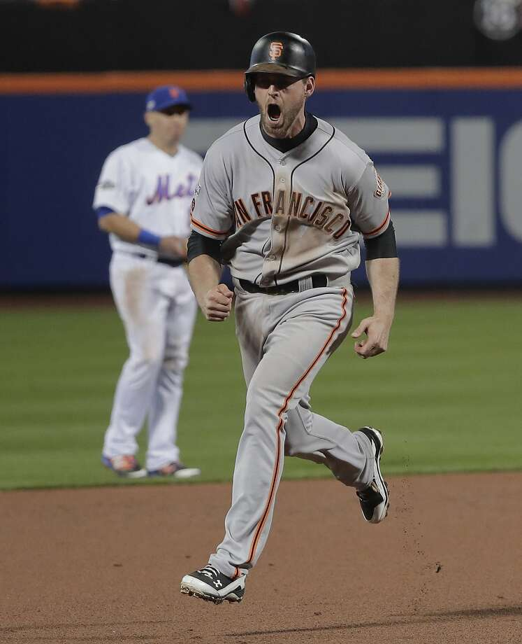 You knew who Conor Gillaspie was (and how to spell his name) before his three-run homer against the Mets. Photo: Julie Jacobson, Associated Press