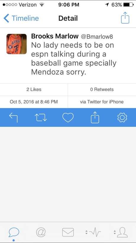 Astros minor leaguer tweets sexist comment about ESPN broadcast…