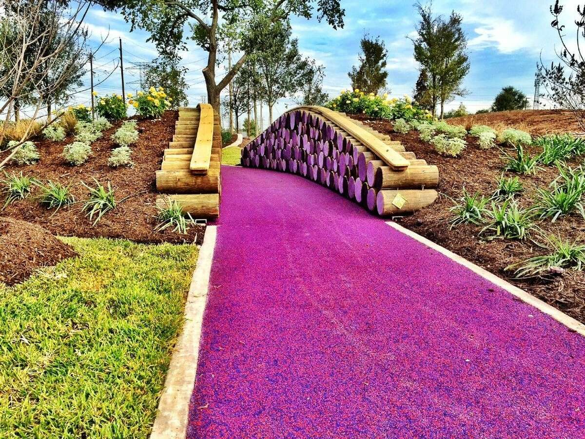 Splashes of color add an element of playfulness to the natural setting of Riverstone's Big Adventure Park.