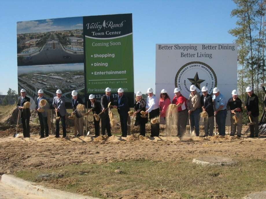 EMCID, Kroger and The Signorelli Company representatives celebrated the official ground breaking of the new Kroger Marketplace in New Caney's Valley Ranch Town Center Thursday, Oct. 29, 2015.