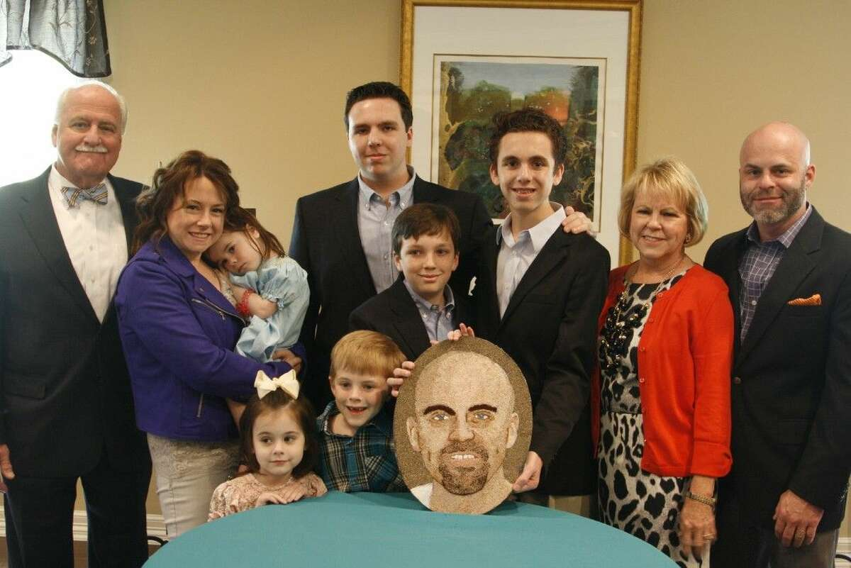 Kingwood resident John McDavid IV's three sons and family members created a florograph in honor of John, who will be honored as an organ donor, on the Donate Life float in the 2015 Rose Parade.