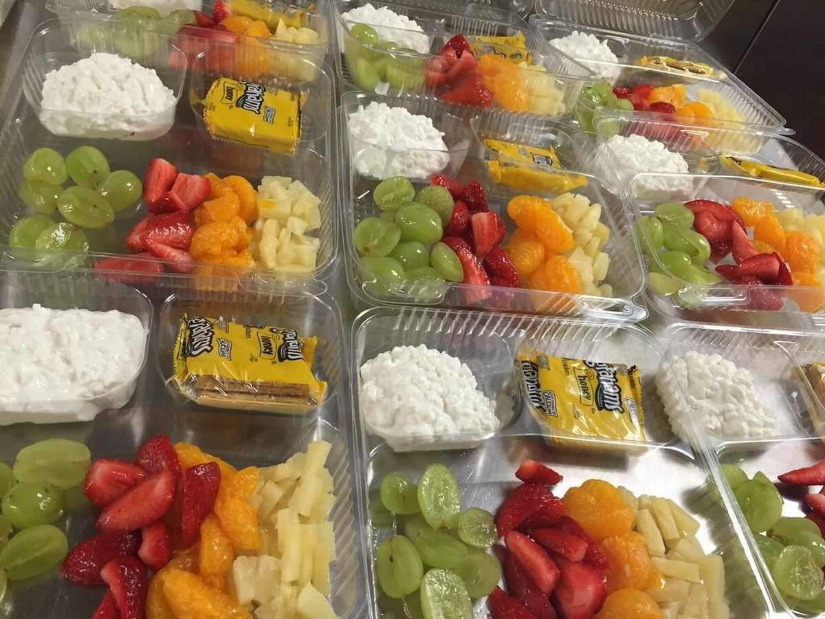 Fresh fruit and cottage cheese salad is one of the items served at Spring ISD schools.