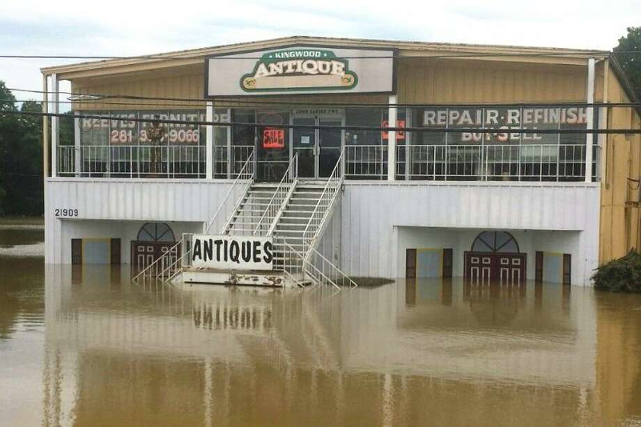 Reeves Furniture had eight feet of flood water in their store after the Memorial Day weekend floods.
