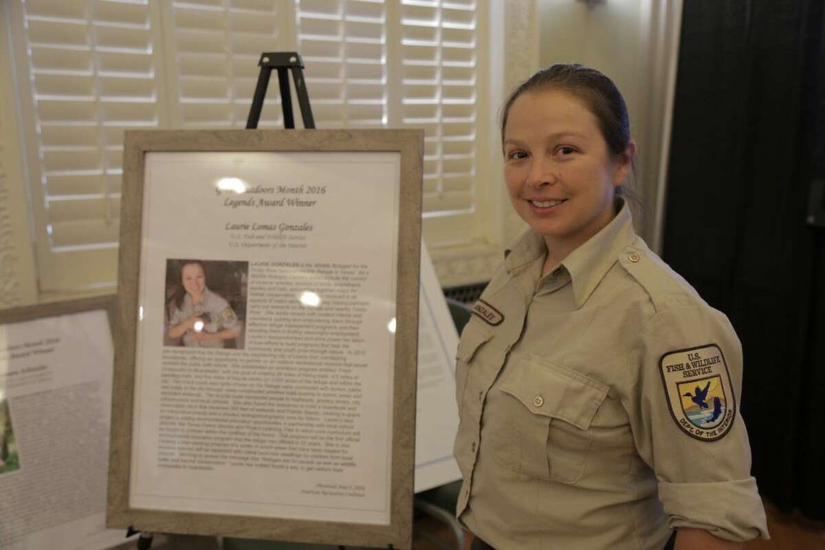 Laurie Lomas Gonzales, a wildlife biologist at the Trinity River National Wildlife Refuge, has been recognized and awarded the American Recreation Coalition's prestigious Legends Award.