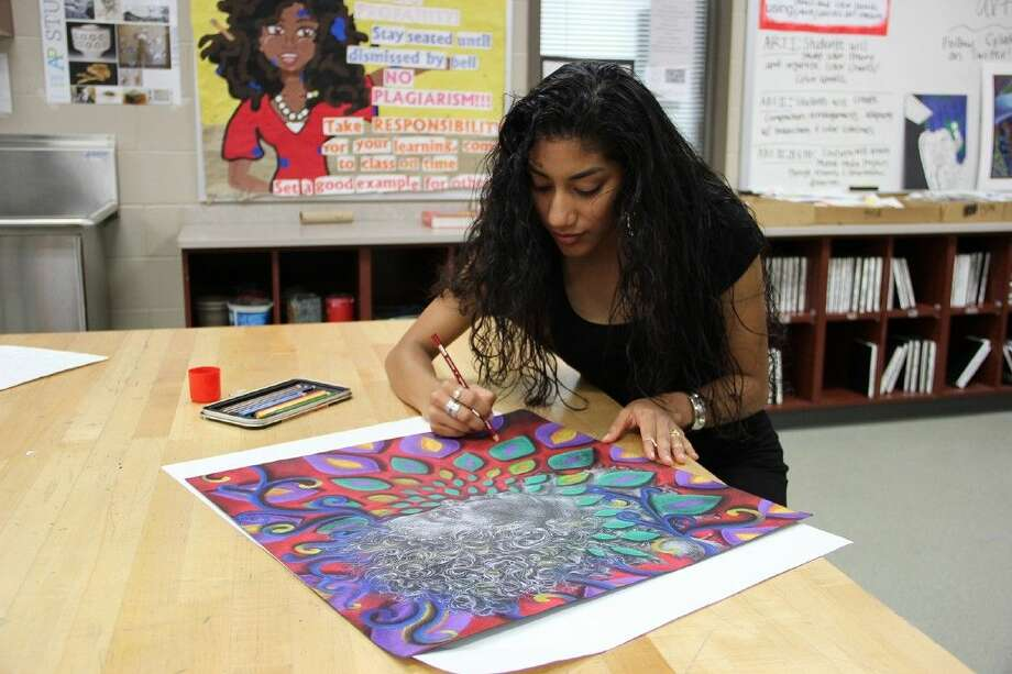 Cypress Lakes High School senior Belem Lopez will represent her school and district in the ninth annual Via Colori street painting festival in the Via Apprendista high school art showcase.