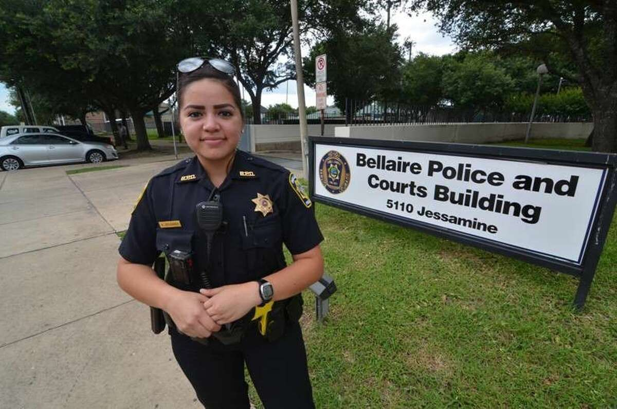 Officer April Delgado of the Bellaire Police Department. The Bellaire city council recently approved body camera, high-water response vehicle applications.