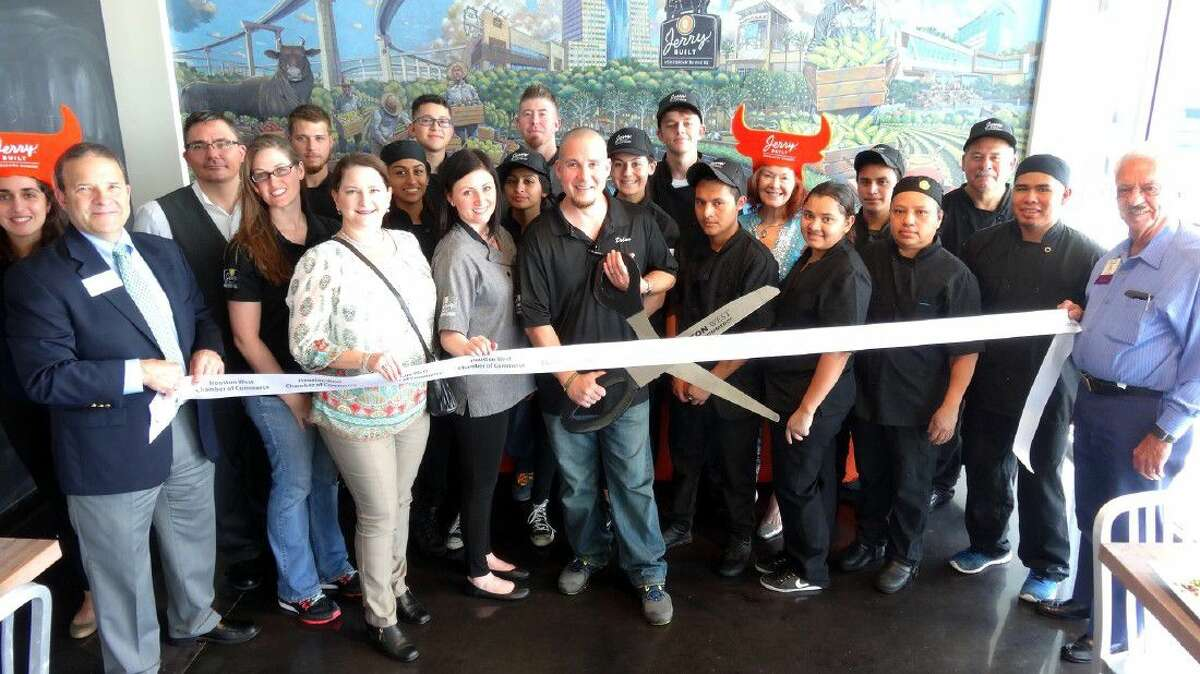 Jerry Built Homegrown Burgers recently celebrated the opening of the third location in the greater Houston area.
