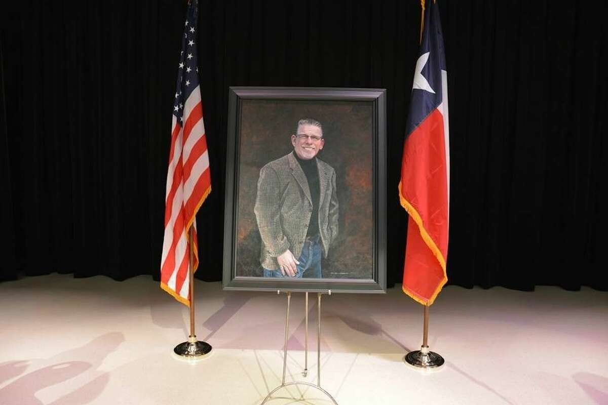 A portrait of James E. Randolph to be placed at Randolph Elementary School.