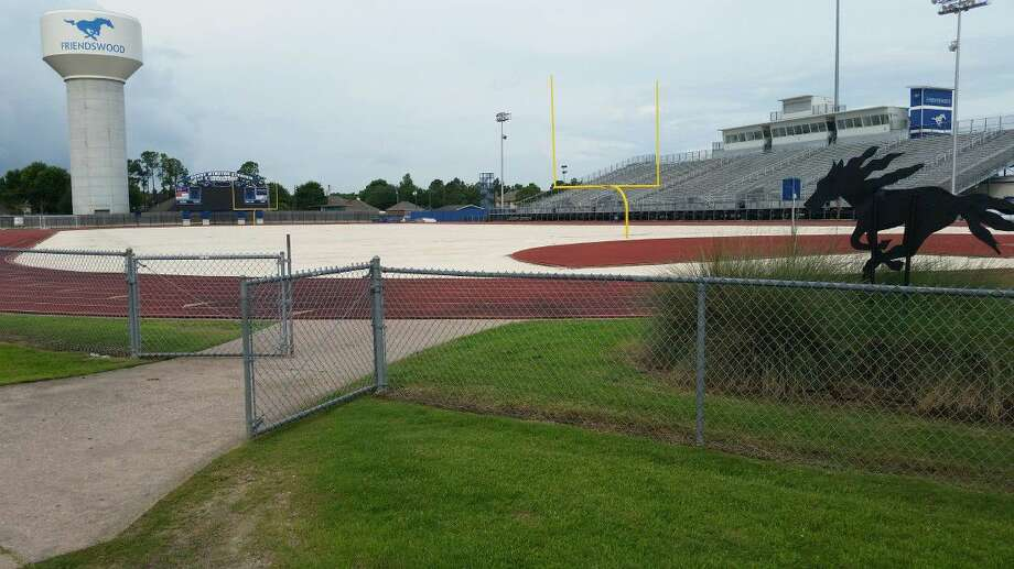 The turf, now a sea of gravel at Henry Winston Stadium, still hasn't been replaced. Projected date of finish for installing the turf is Aug. 1. Photo: Ted Dunnam