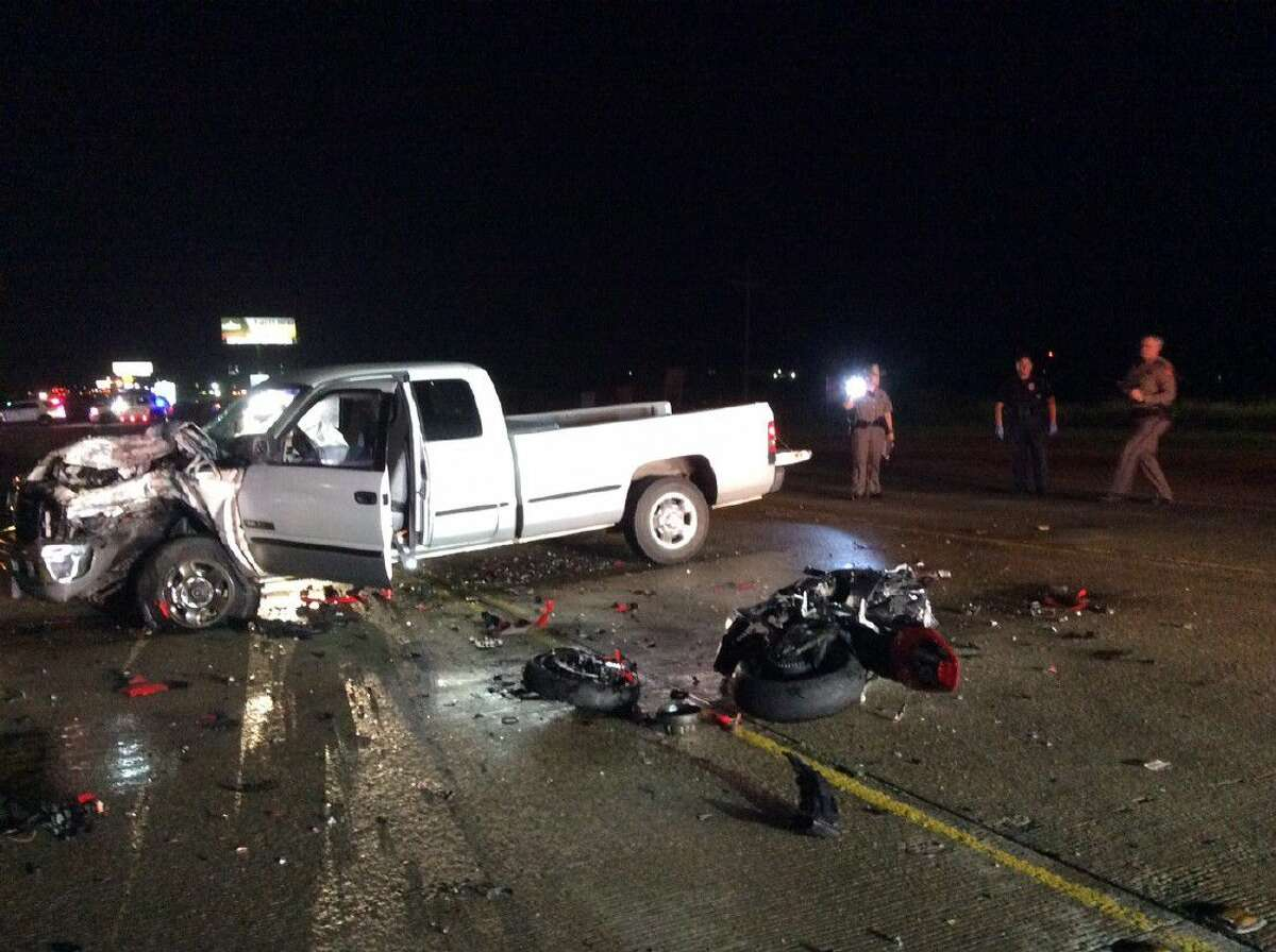 A Woodlands couple lost their lives when a truck collided with the motorcycle they were riding Saturday on Texas 105 West near Montgomery.