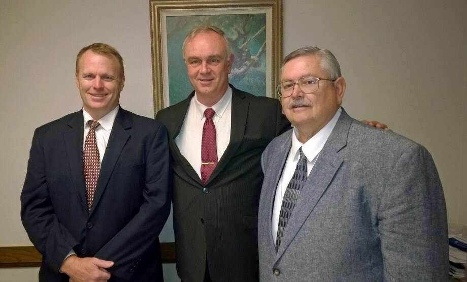 Alvin Ward Bishopric, from Left to Right: 1st Counselor Read Lawrence Flake, Bishop Adam Burkey & and 2nd Counselor Morris Holder.