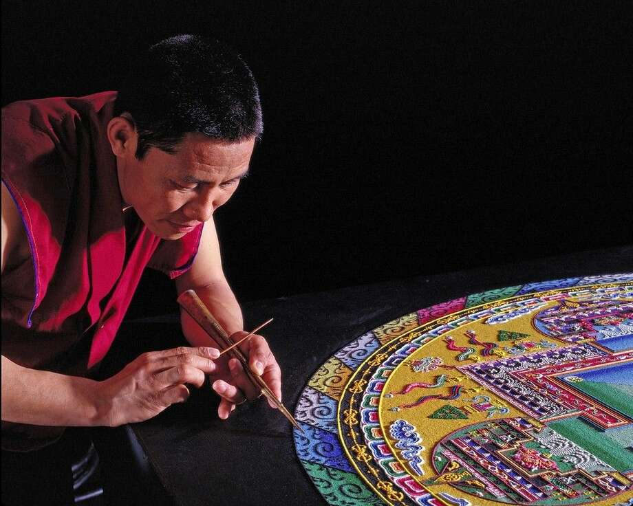 The Mystical Arts of Tibet, featuring the Tibetan Lamas of Drepung Loseling Monastery, will be at the San Jacinto College South Campus during the week of November 9 - 13 creating a sacred sand mandala and facilitating several guest lectures and community activities. The event is sponsored by the San Jacinto College Lyceum Committee and Phi Theta Kappa. Photo submitted.